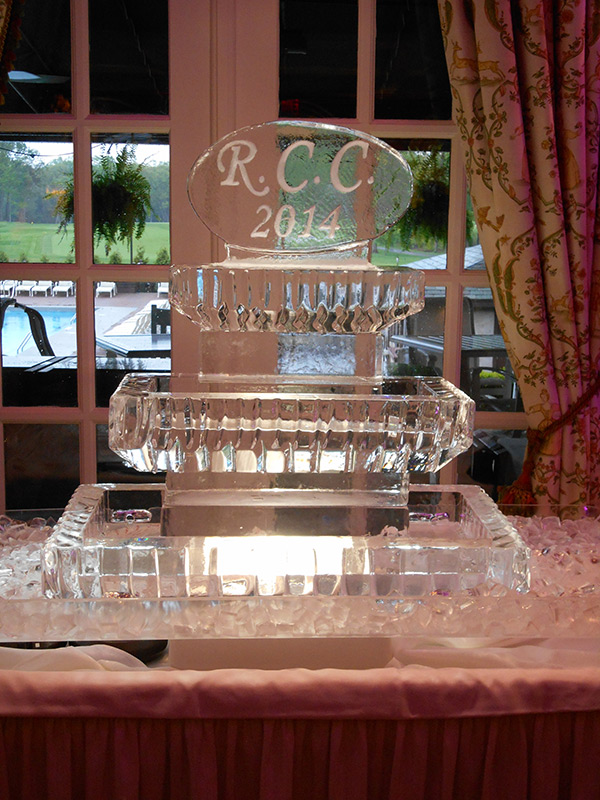 3-Tier Display with Engraved Monogram