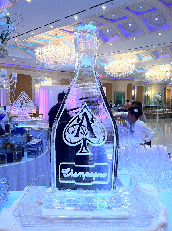 Aces Champagne Bottle