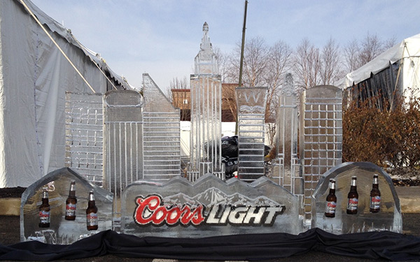 Coors Light Logo with Skyline