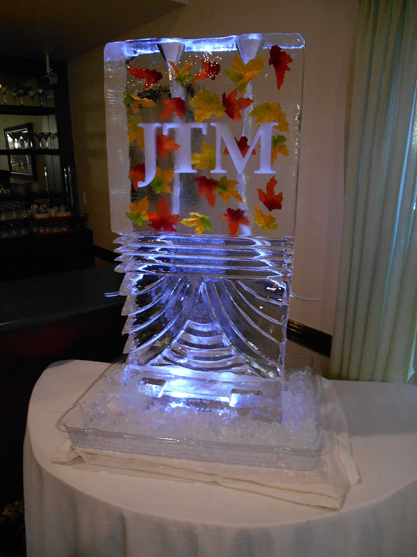 Monogramed Luge with Freeze-Ins