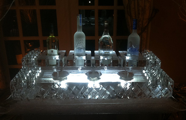 Vodka and Caviar Display
