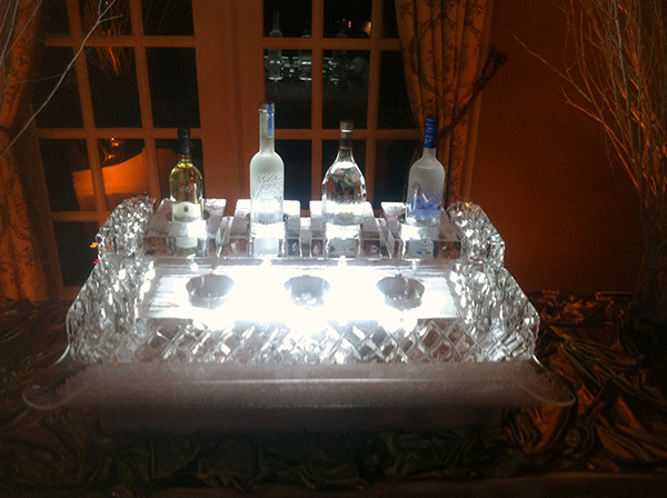 Vodka and Caviar Display