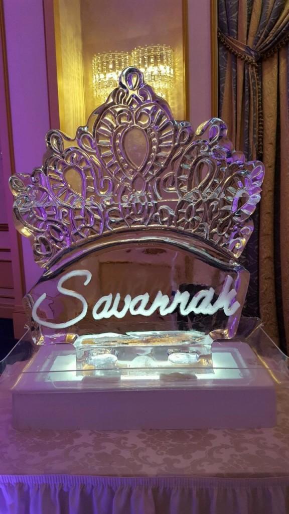Tiara With Engraved Name Savannah 564