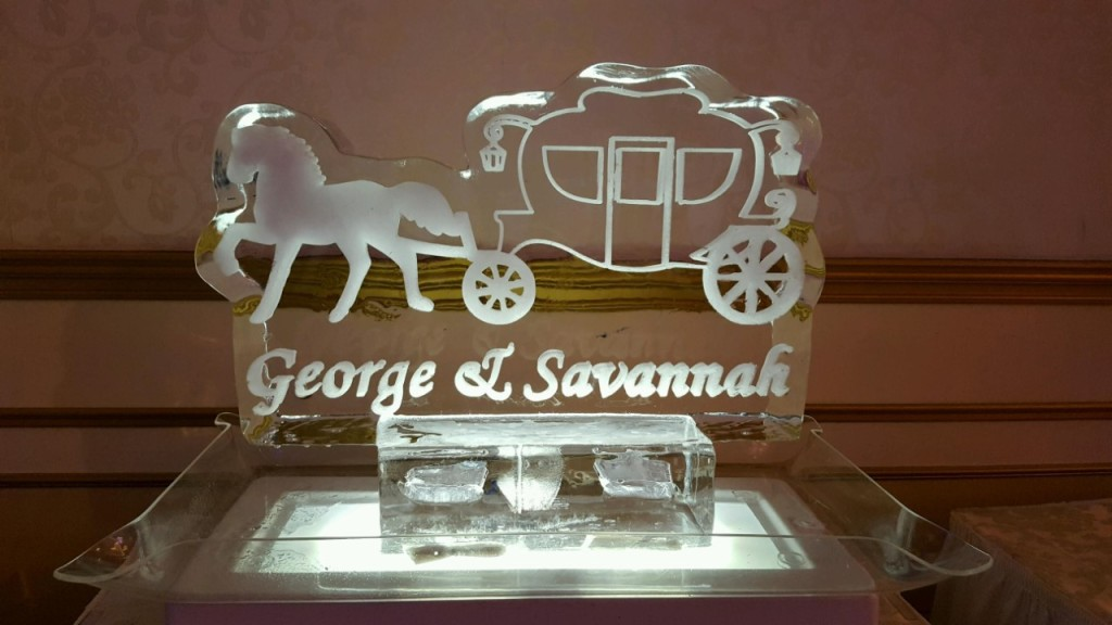 Horse and Carriage Engraved