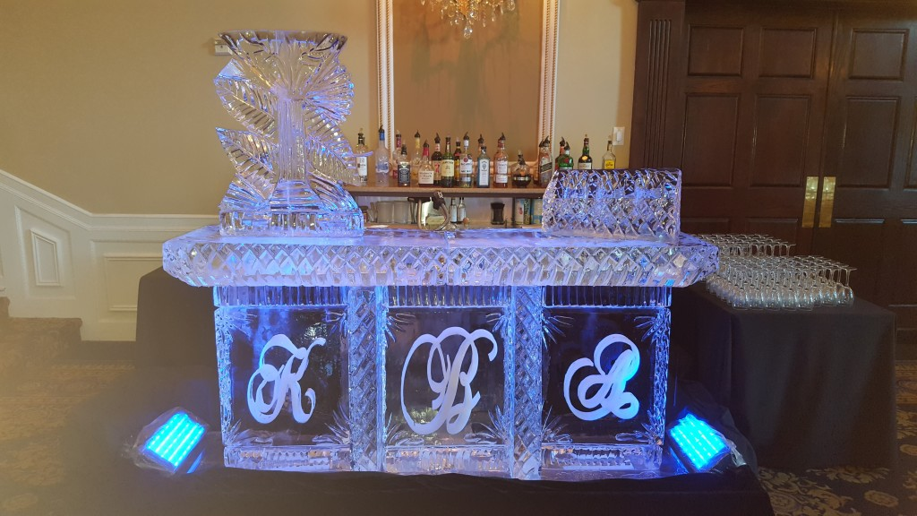 Initial Bar with Luge & Bottle Display