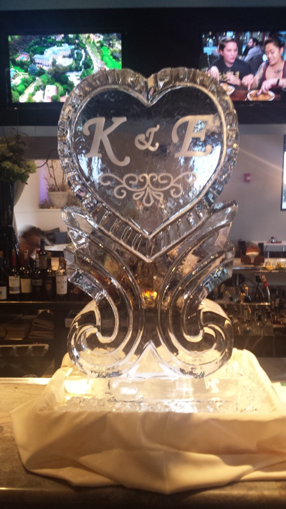 Heart on Pedestal with Initials 726