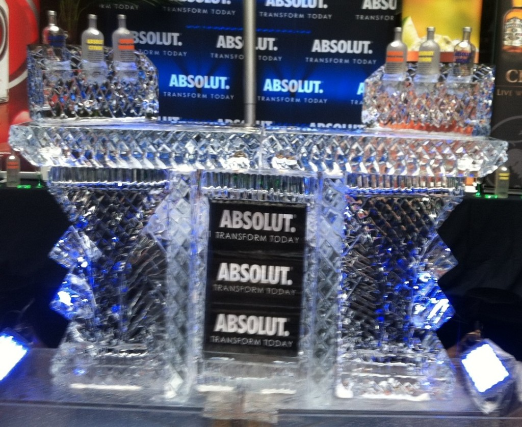 Absolut Bar with Six (6) Bottle Holder