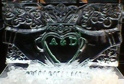 Claddagh with Green Initials