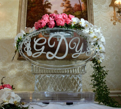 Monogram Oval with Flowers