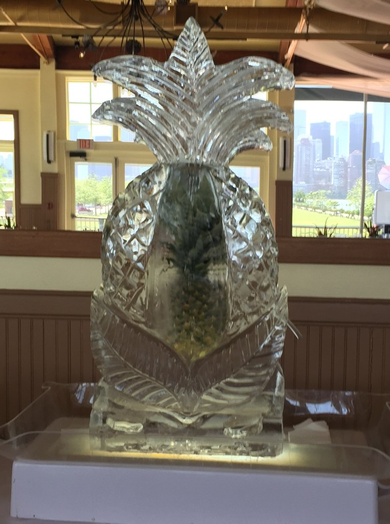 Pineapple Luge with Pineapple Freeze-in